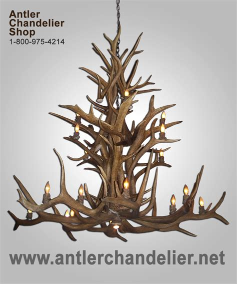 Real Antler Elk Deer Chandelier 16 20 Lights Rustic Antler Chandelier Shop