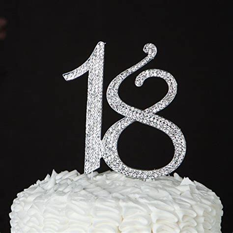 Number 18 Cake Topper for 18th Birthday or Anniversary