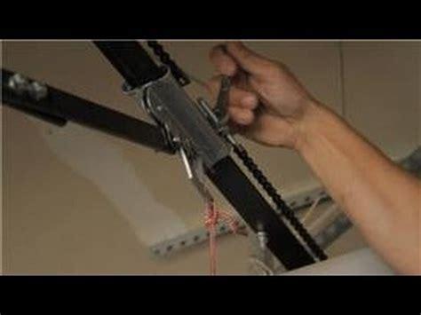 Garage Door Help How To Adjust The Chain On A Garage How To Adjust A Garage Door Opener