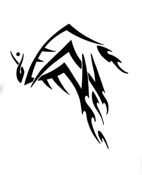 tribal brown ink aries design black ink tribal aries design