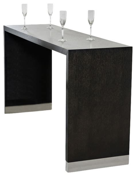 Modern Bar Table Modrest Silas Wenge Wood Bar Table Modern Indoor Pub And Bistro Tables By La Furniture Store