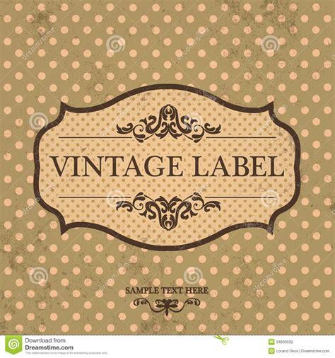 design vintage label vintage label design with retro background stock vector