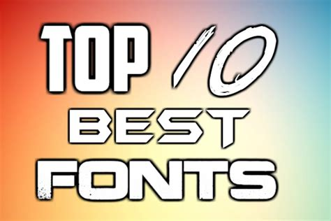 top 10 best fonts 2016