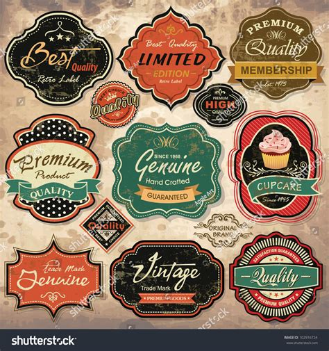 retro photos collection of vintage retro grunge labels badges and