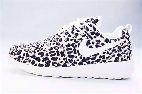 shoes nike white black leopard print pantherprint
