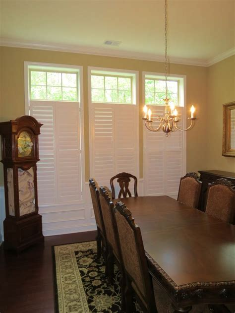 window treatments for dining room plantation shutters with open transom in a dining room beautiful dining rooms window