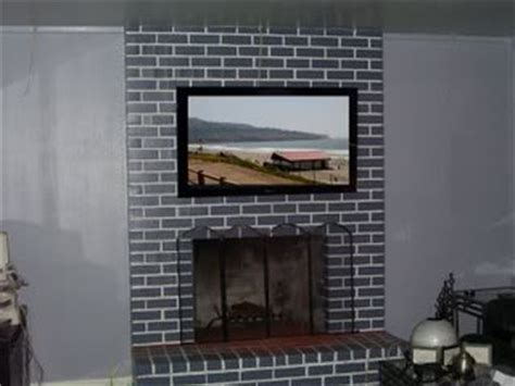 mount tv on brick fireplace hide wires 83 best images about fireplaces on how to paint diy fireplace and painting brick