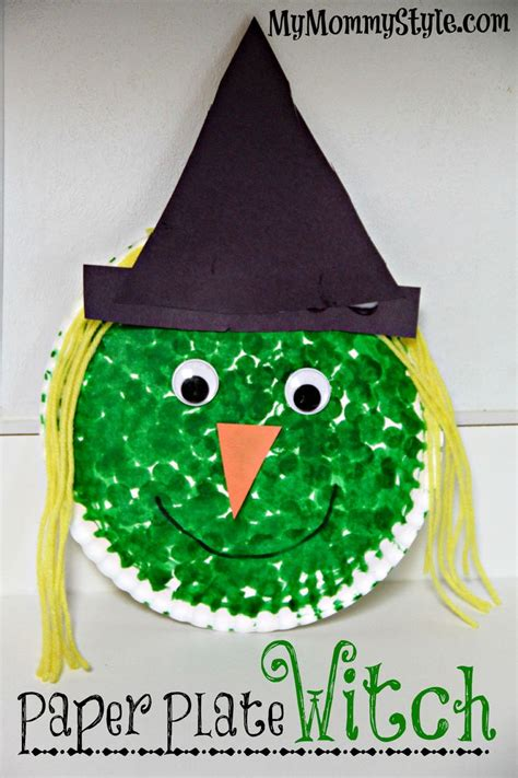 witch craft projects paper plate witch project for crafts