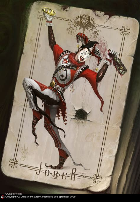 playing card art joker by oleg shekhovtsov playing