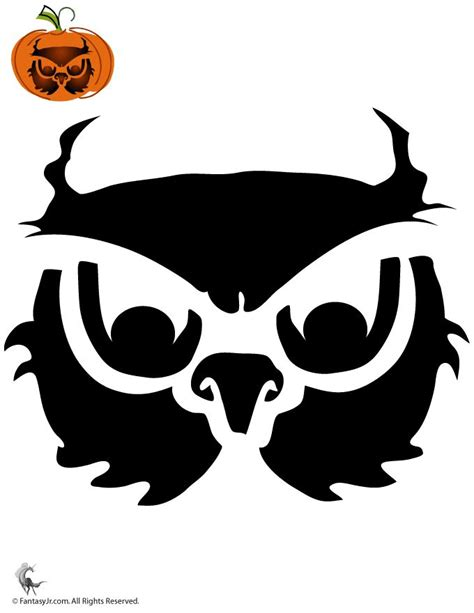 pumpkin stencil owls pinterest