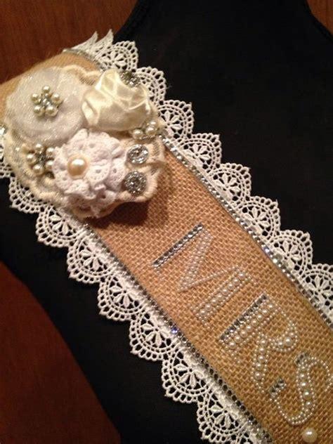 Bridal Shower Sash Selempang country chic ultrabling bachelorette sash custom sash future mrs sash to be sash