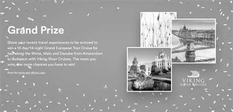 Conde Nast Sweepstakes - win this a 15 day river cruise between amsterdam and budapest the real deal
