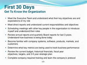 vice president supply chain 90 day plan