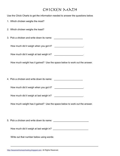 14 best images of family and consumer science worksheets