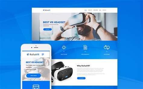 Live Preview For Rufusvr Vr Startup Responsive Wordpress Theme 61172 Vr Website Template