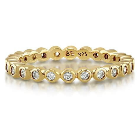 berricle gold flashed sterling silver cz eternity