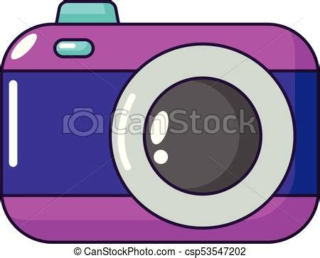photo camera icon, cartoon style. photo camera icon