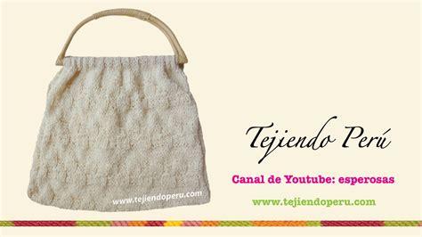 cartera o bolso con asa tejido a crochet youtube cartera o bolso tejido en dos agujas o palillos youtube