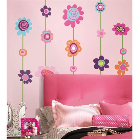 peel and stick wall decals flower stripe peel and stick giant wall decal