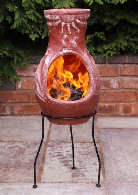 Clay Patio Heater by Mexican Clay Chimenea Clay Chiminea Patio Heater