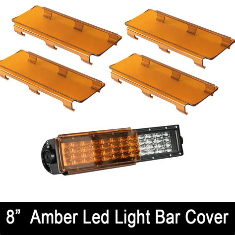 52 inch curved light bar cover 4x 8inch amber straight curved led light bar lens cover
