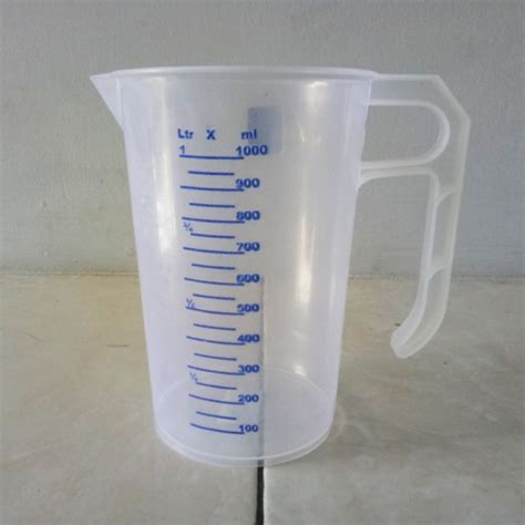 gelas ukur alat takar 1 liter bibitbunga