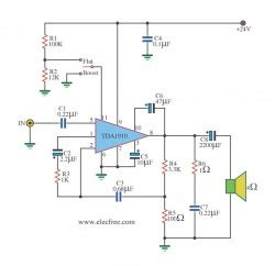 the world s integrated circuit was developed at instruments power lifier monolithic integrated circuit by ic tda1910 circuit diagram world