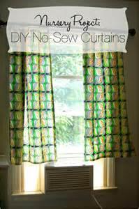 Diy Nursery Curtains Diy No Sew Curtains Nursery Project