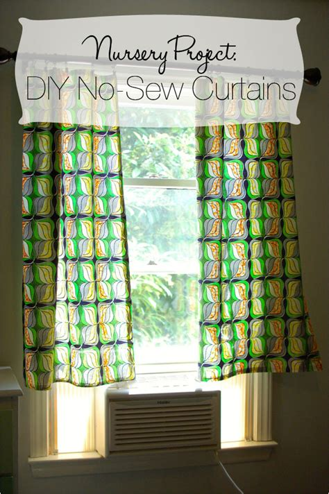 Diy Nursery Curtains Diy No Sew Curtains Nursery Project