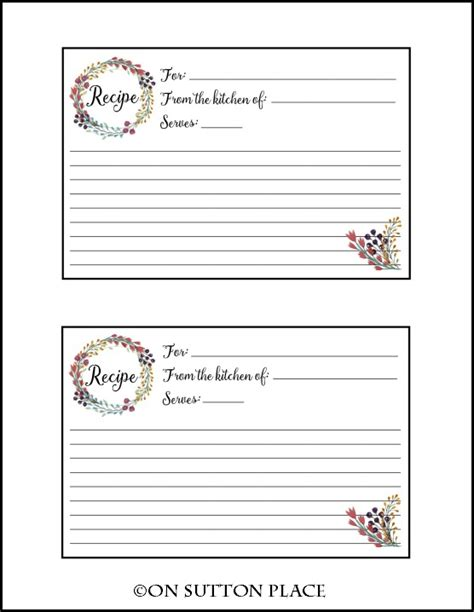 printable recipe cards online recipe card free printable