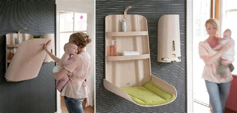 Space Saving Changing Table Baby Furniture From Bybo Space Saving Wall Mounted Baby Changing Table