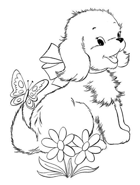 coloring pages of adorable animals top 30 free printable puppy coloring pages online