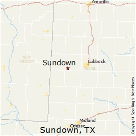 sundown texas map best places to live in sundown texas