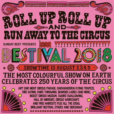 new year circus 2018 bestival 2018 announces circus theme and new date gigwise