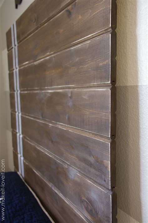 plank headboard very simple diy wood plank headboard make it and love it