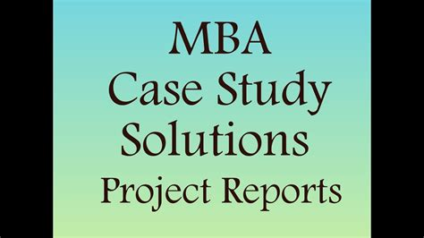 Free Mba Studies With Solution by Study With Solution For Mba