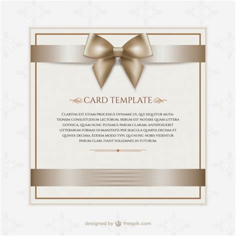 donation card template gift card template vector free
