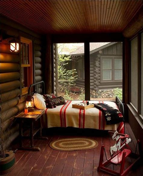 cozy log cabin porch home inspirtations pinterest cozy sleeping porches for a perfectly relaxing summer