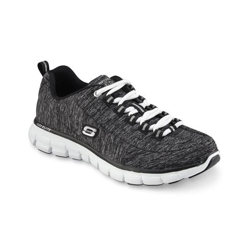 black and white athletic shoes skechers s spot on athletic shoe black white