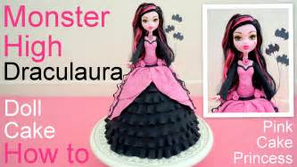 halloween monster high draculaura doll cake how to by pink cake princess youtube