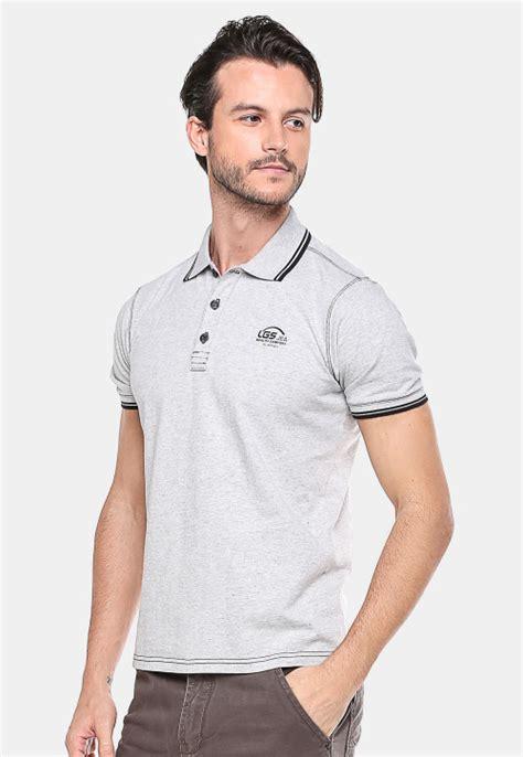 Dsvn Generation Kaos Pria Hitam slim fit kaos polo putih abu garis hitam putih