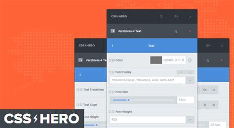 css layout in wordpress css hero review wordpress design customization made easy