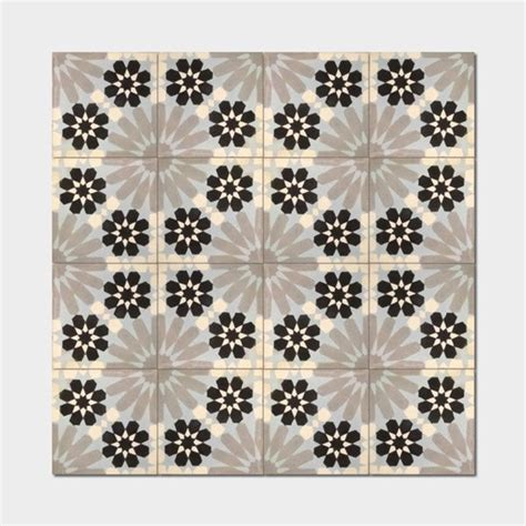 Handmade Moroccan Tiles - agdal andalosia grey handmade cement and granite moroccan