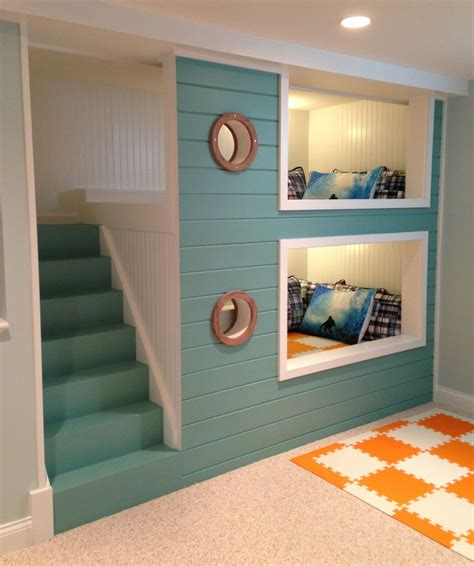Bunk Beds For Boys With Stairs 25 Nautical Bedding Ideas For Boys Bunk Bed Basements And Sailing Theme