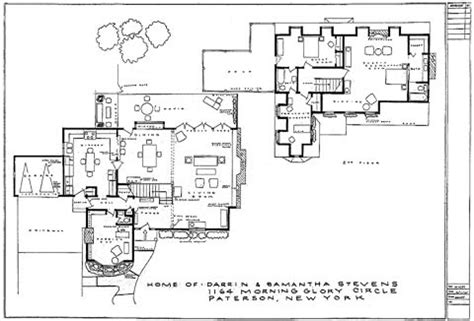 bewitched house floor plan circularabsurdity samantha and darrin steven s house