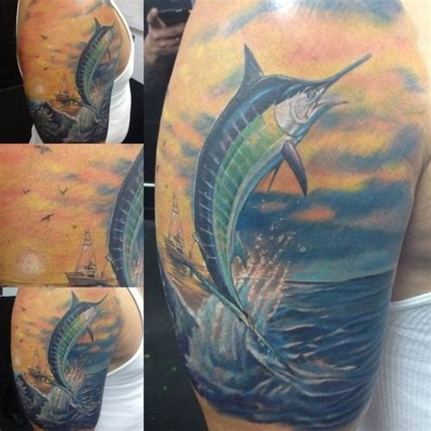 blue marlin tattoo designs 30 best images about new tatt on fishing