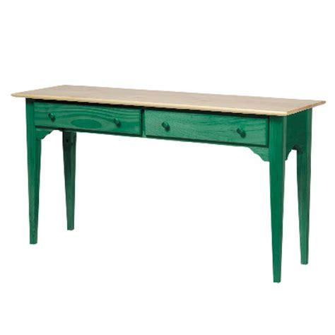 sofa table green solid pine sofa table
