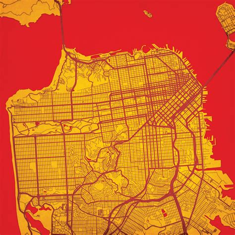 san francisco map to print san francisco california map city prints