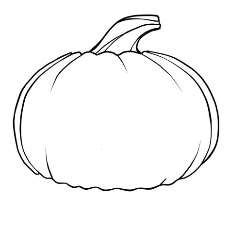 pumpkin outline template free printable pumpkin coloring pages for