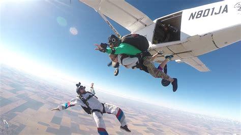 parachute dive tandem skydiving skydive west plains